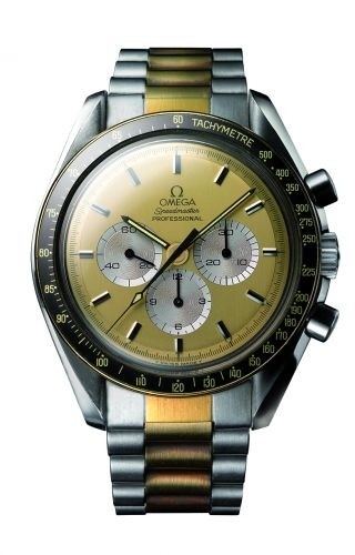 Speedmaster Professional Stainless Steel / Yellow Gold / Champagne / Bracelet