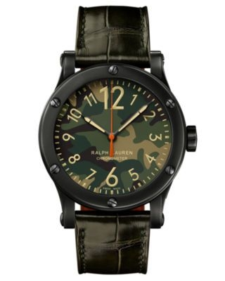 Safari 45mm Chronometer Aged Steel / Camo