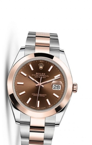 Datejust 41 Rolesor Everose Smooth / Oyster / Chocolate