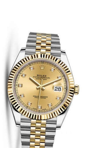 Datejust 41 Rolesor Yellow Fluted / Jubilee / Champagne Diamond