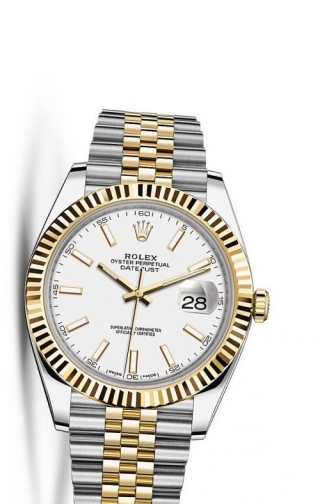 Datejust 41 Rolesor Yellow Fluted / Jubilee / White