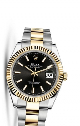 Datejust 41 Rolesor Yellow Fluted / Oyster / Black