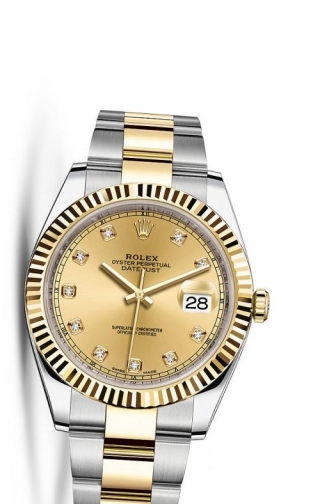 Datejust 41 Rolesor Yellow Fluted / Oyster / Champagne Diamond
