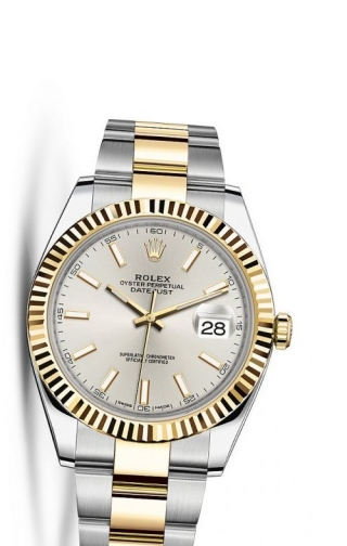 Datejust 41 Rolesor Yellow Fluted / Oyster / Silver
