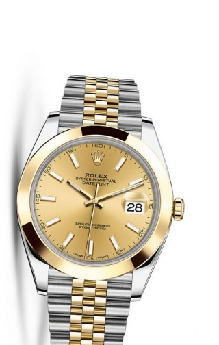 Datejust 41 Rolesor Yellow Smooth / Jubilee / Champagne