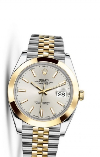 Datejust 41 Rolesor Yellow Smooth / Jubilee / Silver