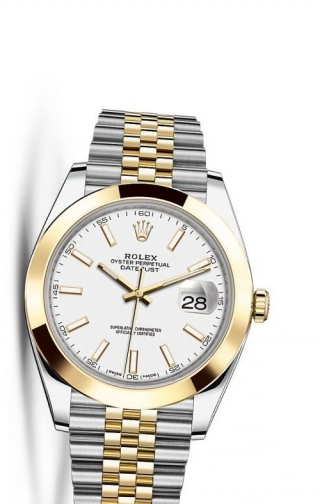 Datejust 41 Rolesor Yellow Smooth / Jubilee / White