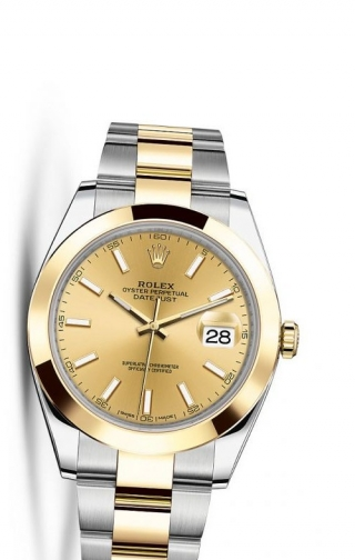 Datejust 41 Rolesor Yellow Smooth / Oyster / Champagne