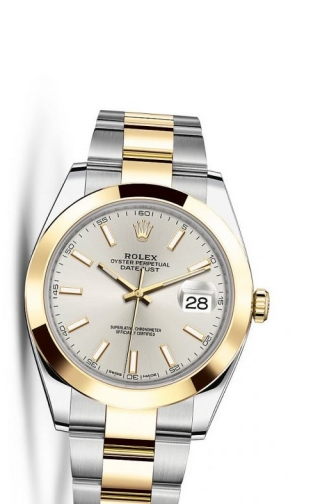 Datejust 41 Rolesor Yellow Smooth / Oyster / Silver