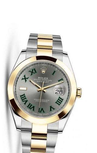 Datejust 41 Rolesor Yellow Smooth / Oyster / Slate Roman