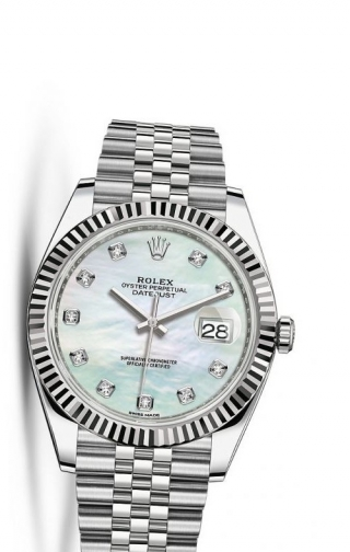 Datejust 41 Stainless Steel Fluted / Jubilee / MOP Diamond