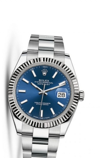Datejust 41 Stainless Steel Fluted / Oyster / Blue
