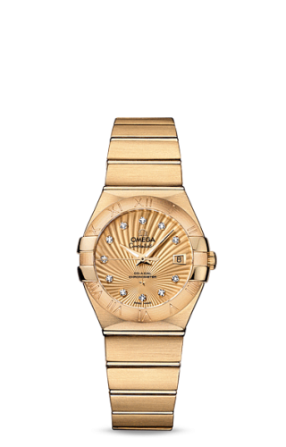 Constellation Co-Axial 27 Brushed Yellow Gold / Champagne Supernova