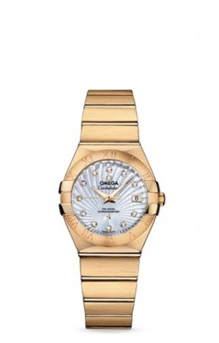 Constellation Co-Axial 27 Brushed Yellow Gold / MOP Supernova