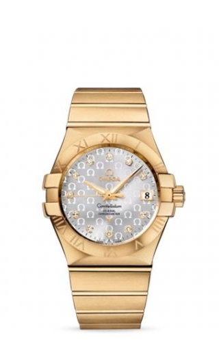 Constellation Co-Axial 35 Yellow Gold / Silver Omega