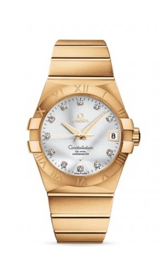 Constellation Co-Axial 38 Yellow Gold / Silver