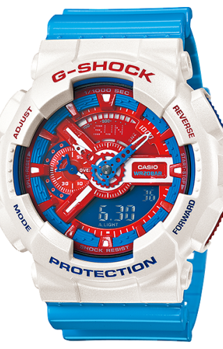 GA-110AC-7A Red, White and Blue