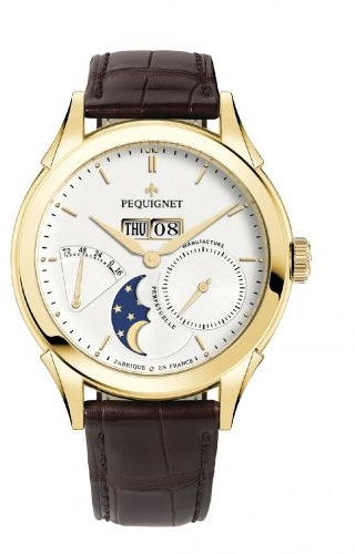 Rue Royale Moonphase Yellow Gold / Silver / Brown Alligator