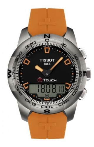 T-Touch II Orange Rubber Ti