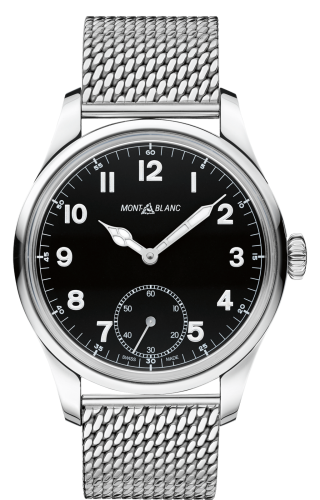 1858 Manual Small Second Stainless Steel / Black / Mesh