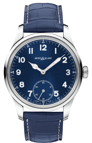1858 Manual Small Second Stainless Steel / Blue