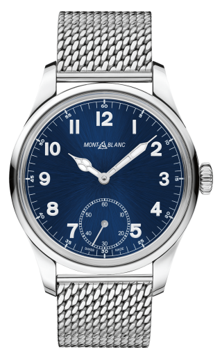 1858 Manual Small Second Stainless Steel / Blue / Mesh