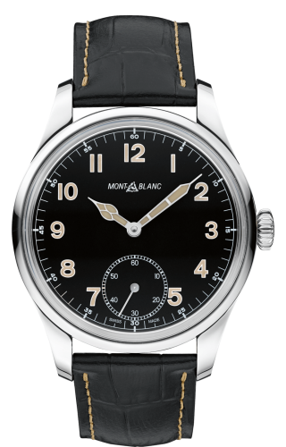 858 Manual Small Second Stainless Steel / Black