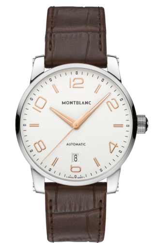 TimeWalker Date Automatic 39 Silver / Red Gold Numerals