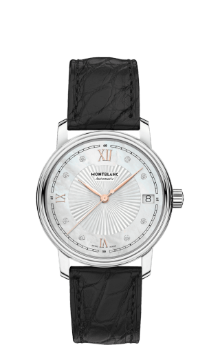 Tradition Date Automatic 32mmStainless Steel / MOP / Alligator