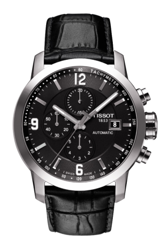 PRC 200 Automatic Chronograph Black Leather