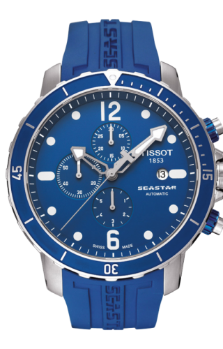 Seastar 1000 Automatic Chronograph Blue Rubber
