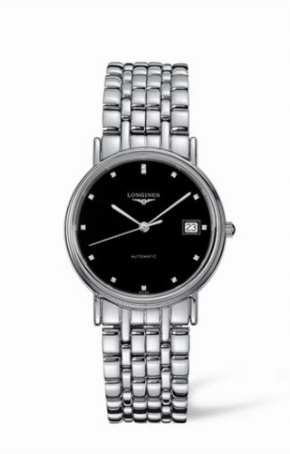 Presence 34.5 Automatic Stainless Steel Black Diamond